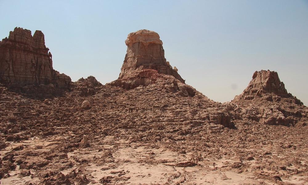 trois pilliers canyon de sel rose éthiopie