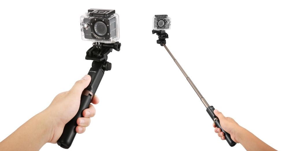 perche a selfies trepied photo gopro smartphone