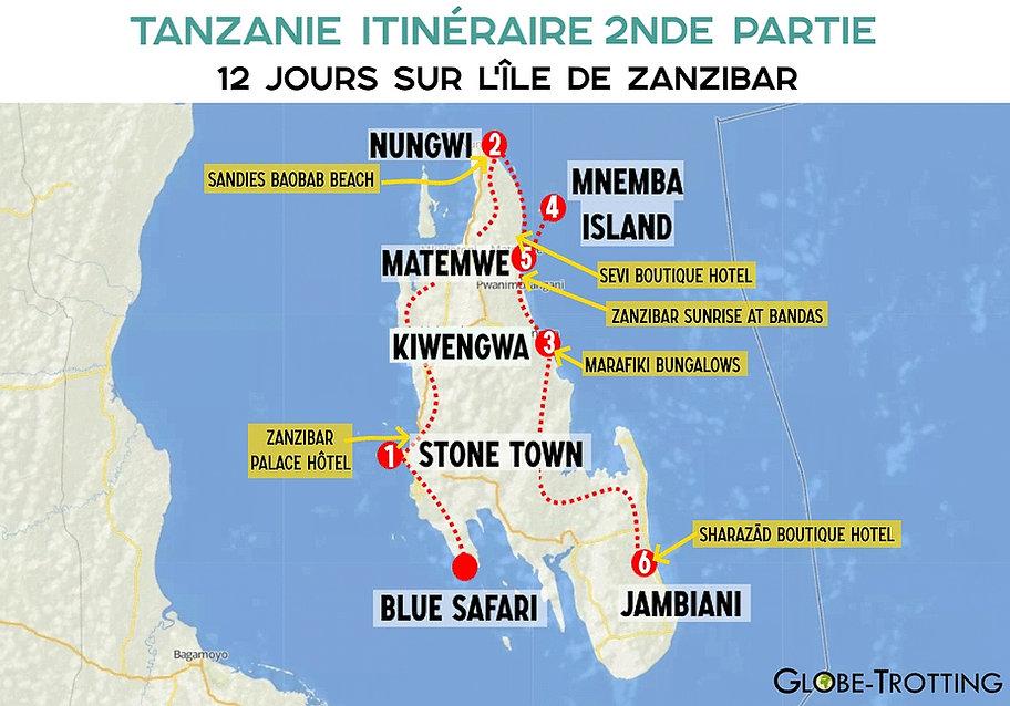 Itinéraire voyage zanzibar 12 jours