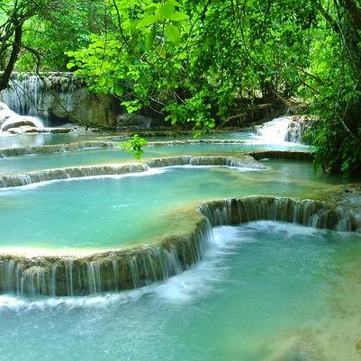 Les Chutes de Tad Saé, Laos