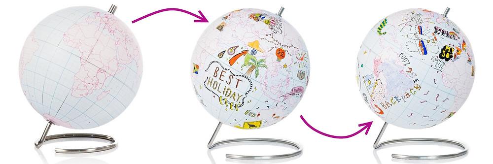 globe terrestre à customiser