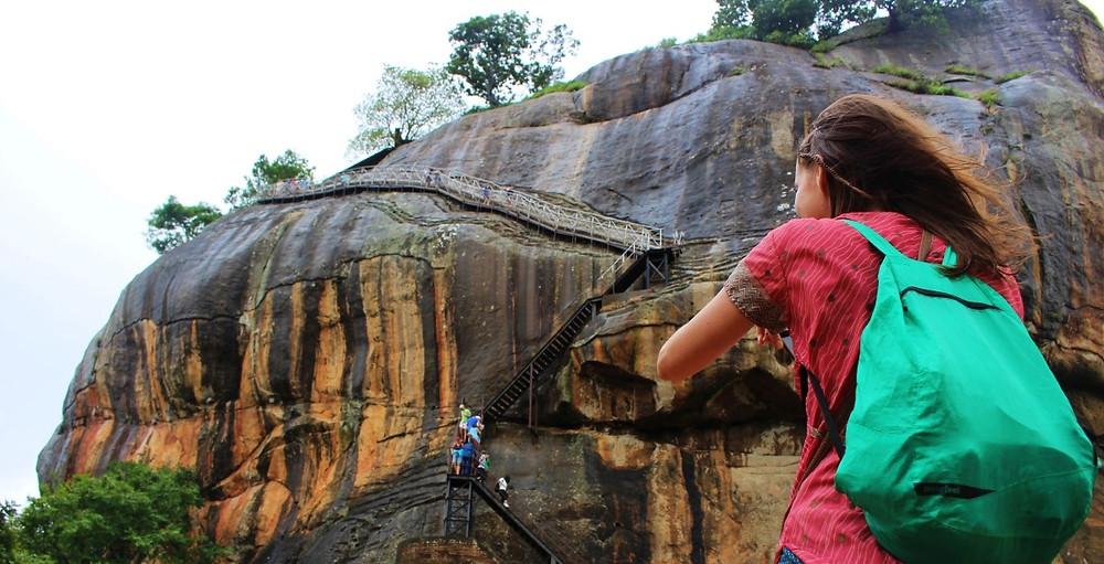 Rocher du lion Sigîriya au Sri Lanka