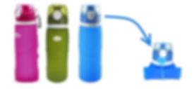 Gadget voyage bouteille pliable
