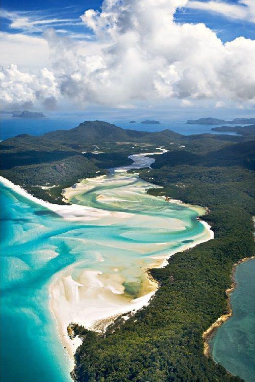 australie plage de paradis blanc