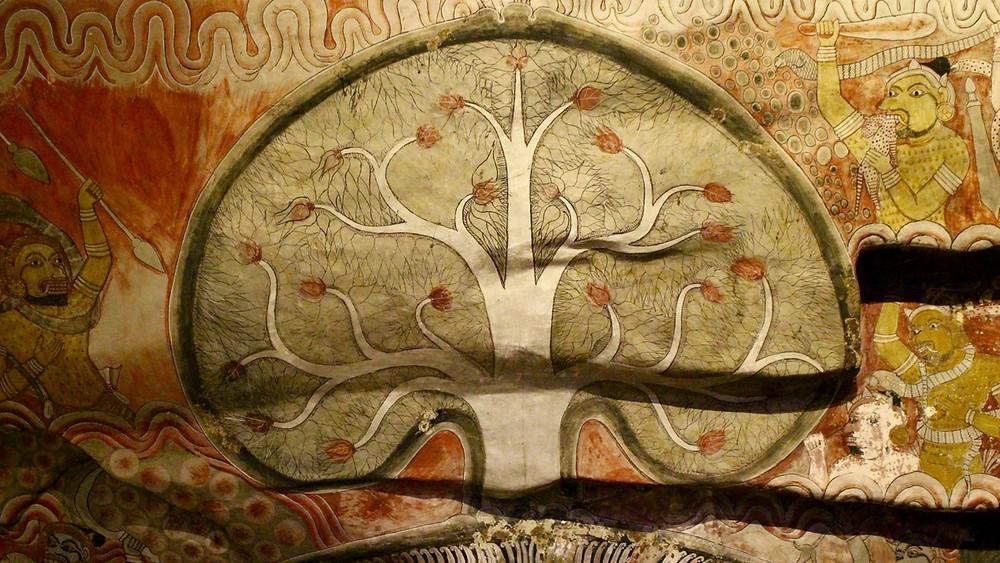 Peinture arbre de la vie Dambulla