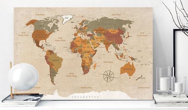 Carte Du Monde En Liege Tous Les Modèles Globe Trotting