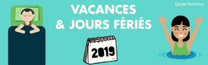 vacances et jours feries 2019