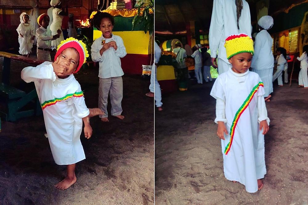 Jamaïque communauté Rasta enfants