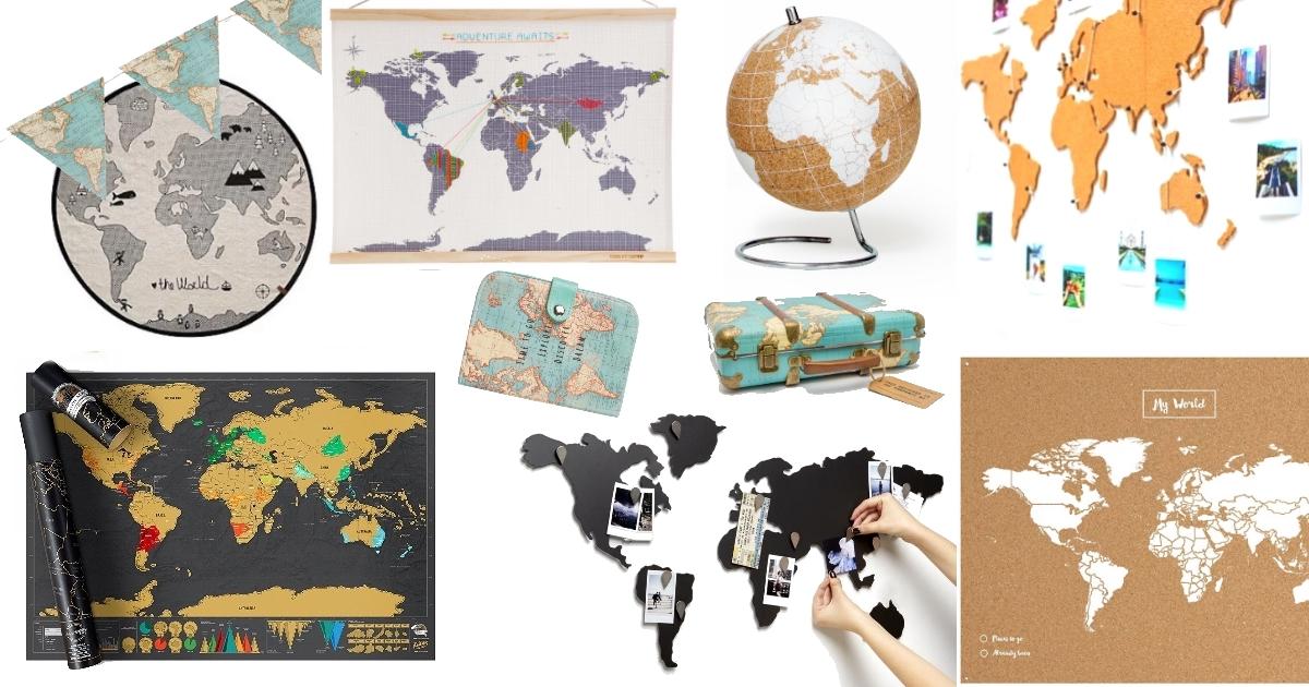 Cartes Du Monde Globes Objets Au Motif Mappemonde