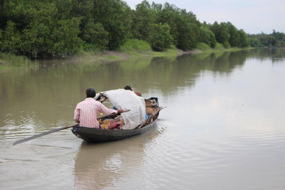 pirogue Sundarbans au Bangladesh