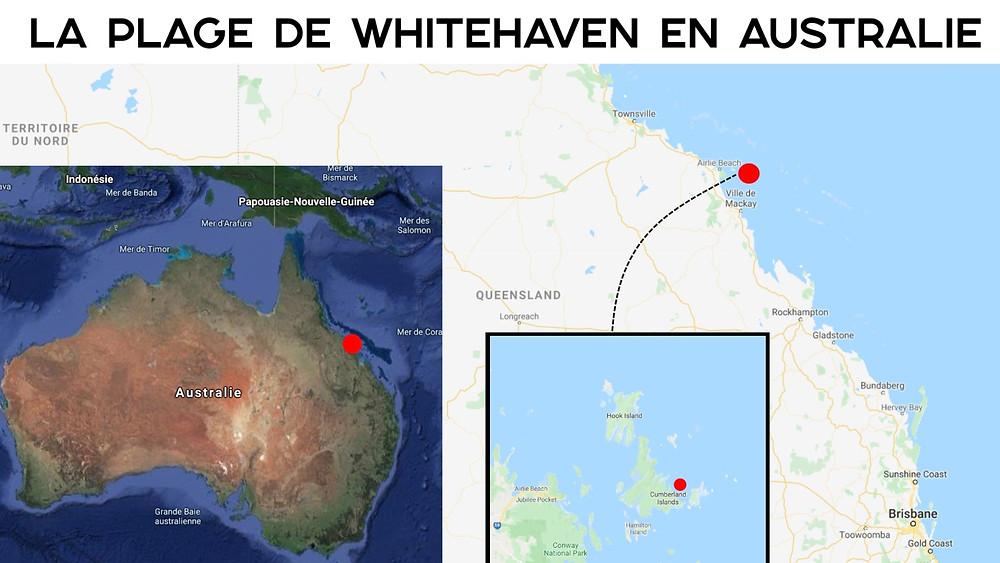 Whitehaven Beach carte