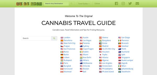 Guide cannabis en voyage
