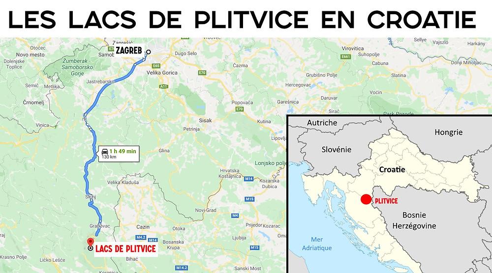 Carte Plitvice croatie plan