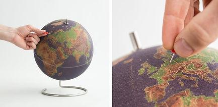 Globe liège couleur