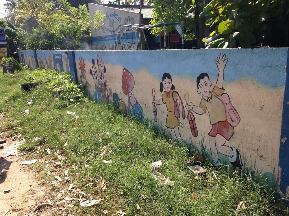 Mirissa sri lanka murs de l'école maternelle