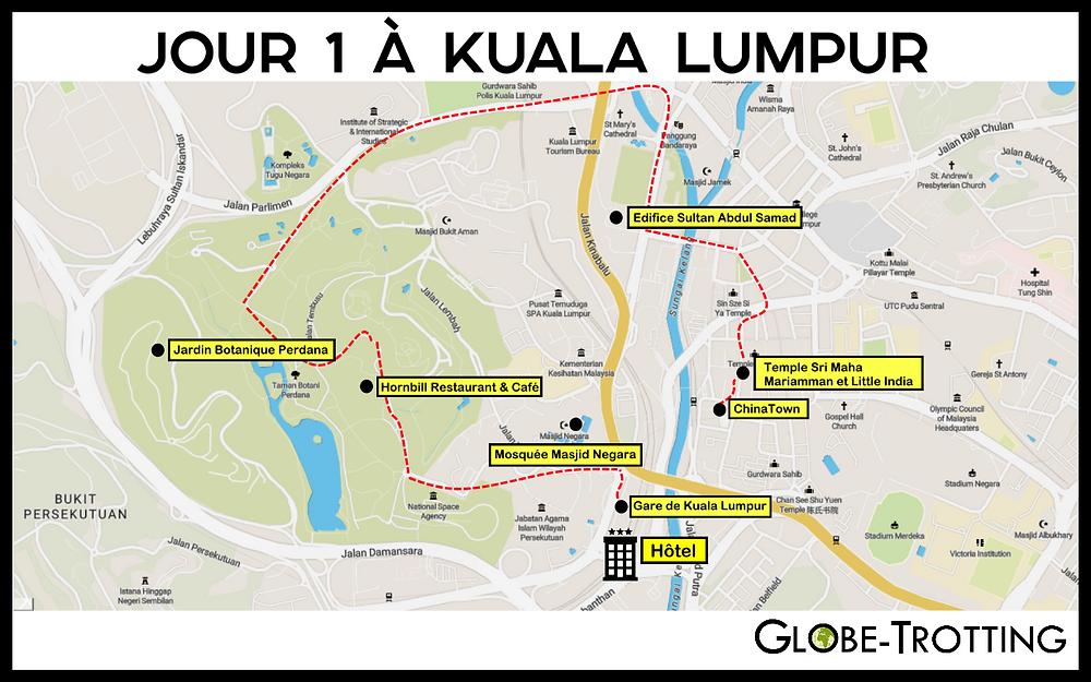 Carte visite 1 jour kuala lumpur