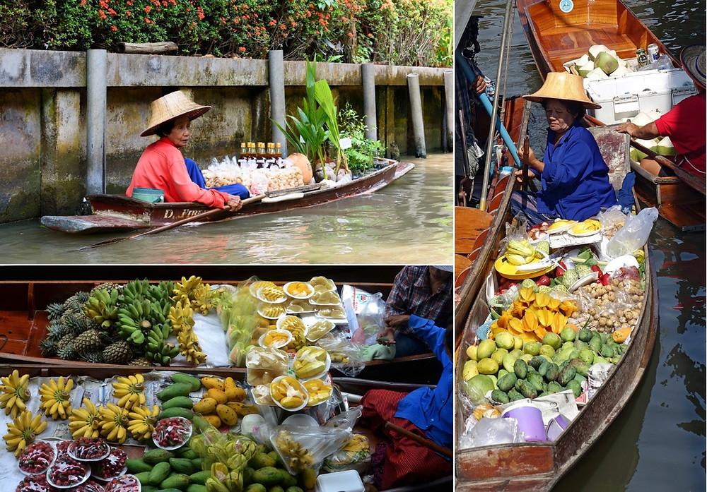 marchés flottants bangkok
