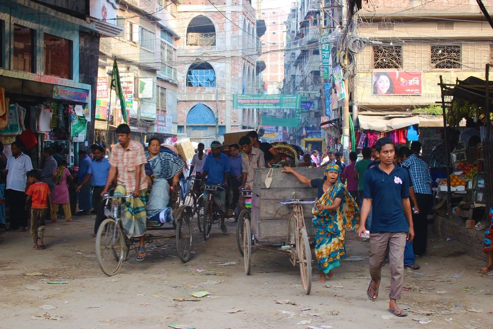 rue de Dhaka Dacca Bangladesh