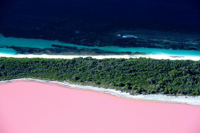 lac rose Hillier en Australie