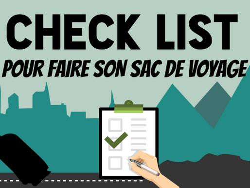 Infographie : Check list vacances