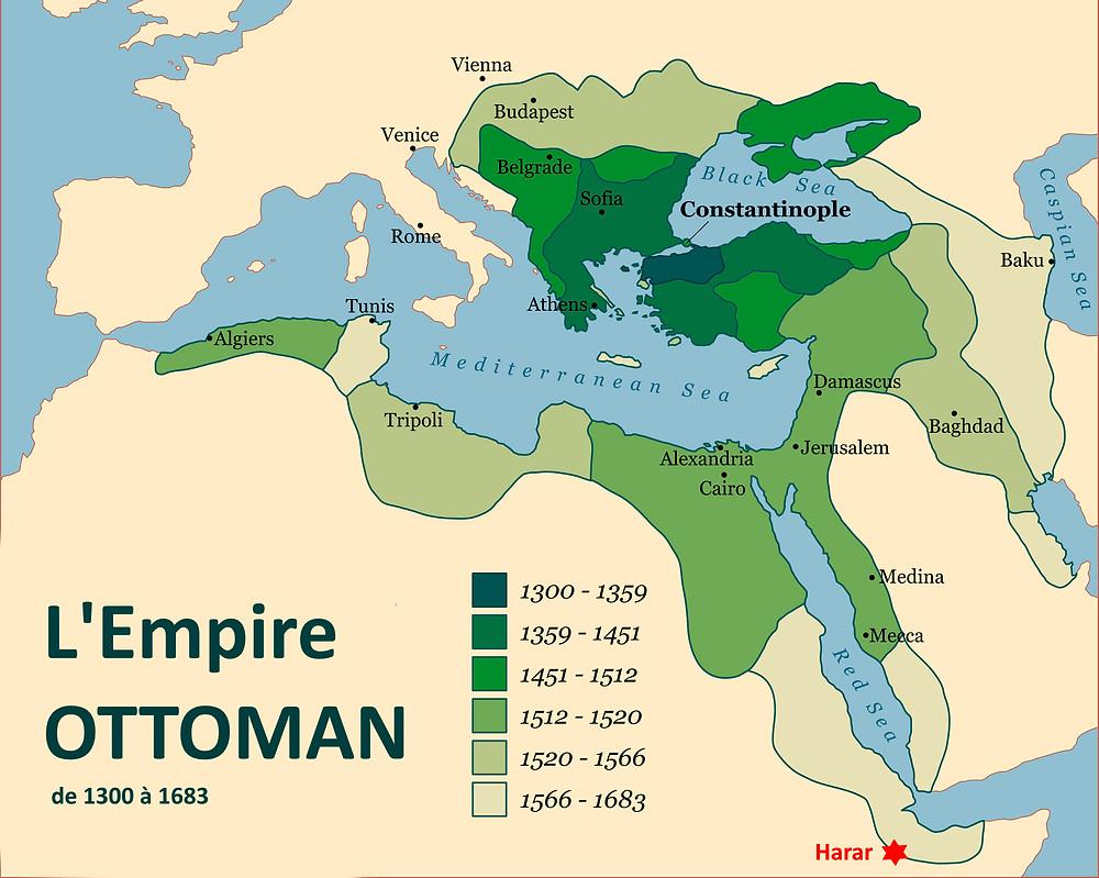 Harar Empire Ottoman carte