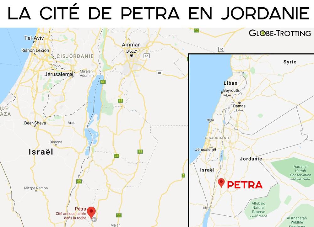 Carte Petra Jordanie