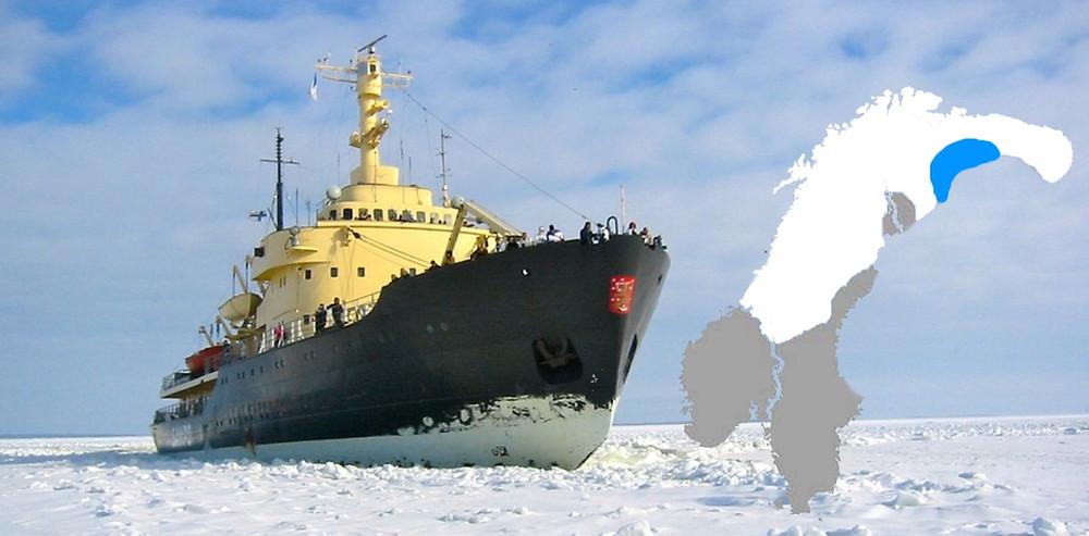 Croisière en brise glace en Laponie