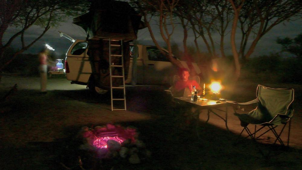 camping au botswana et en namibie