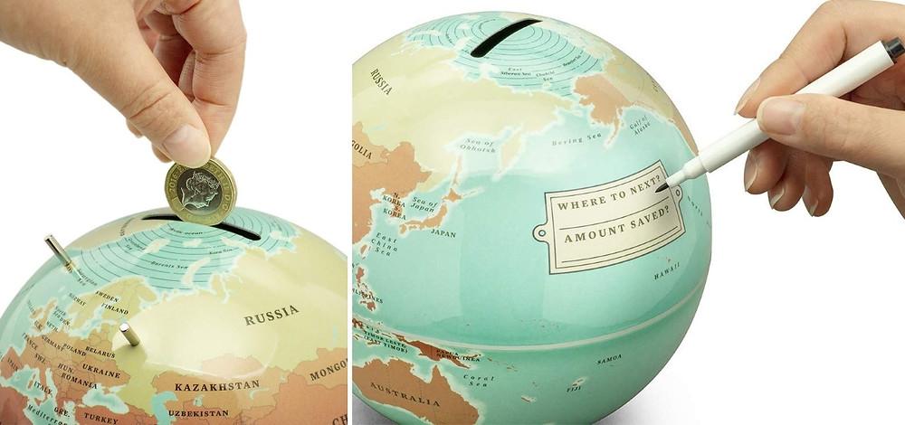 Tirelire globe monde