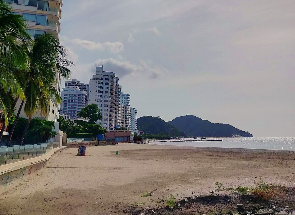 Plage Port Santa Marta Colombie