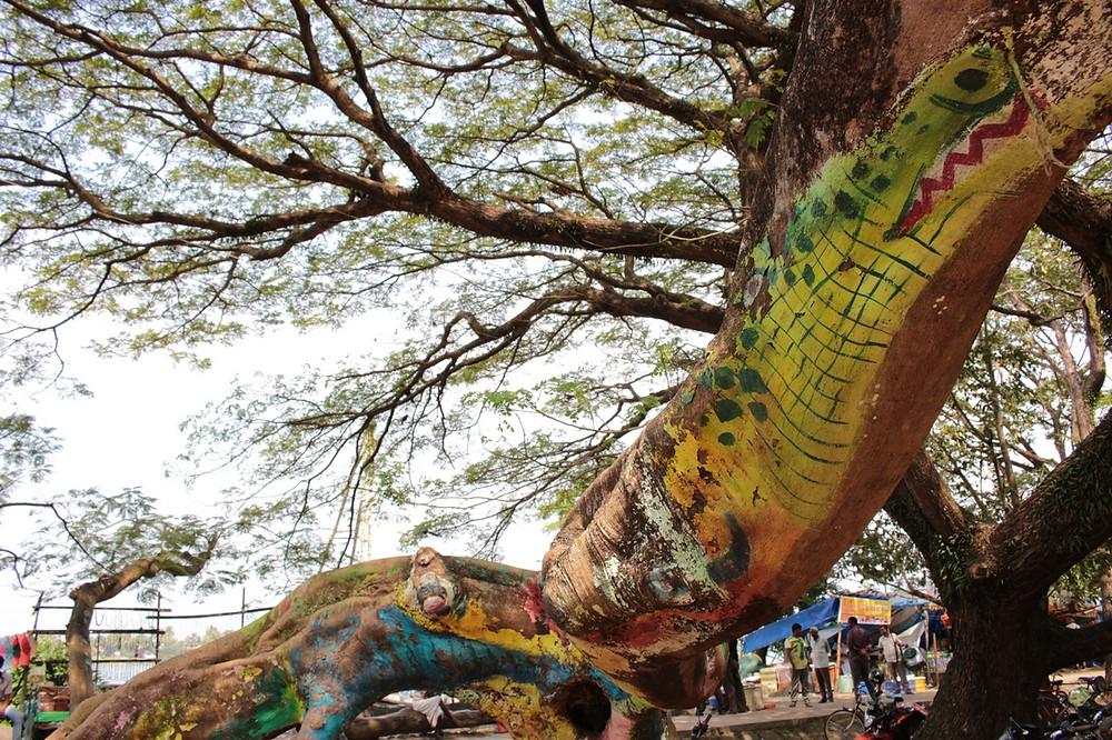 art de rue Fort Cochin en Inde