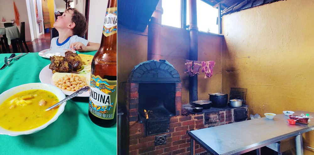 Restaurant chèvre Guane Colombie