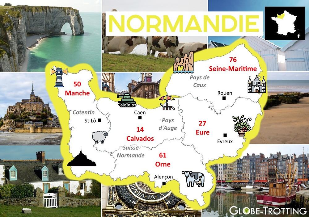 Où partir France région Normandie