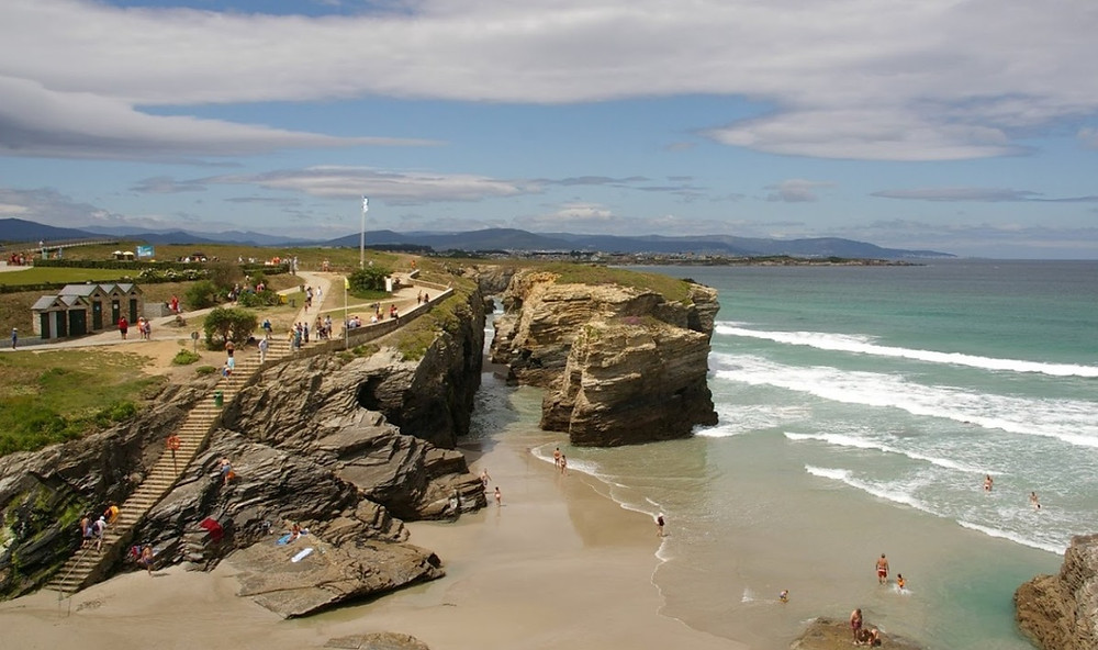 plage cathedrale marée basse