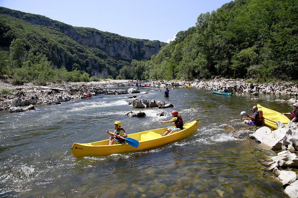 Les Gorges de l'Ardèche en canoë-kayak