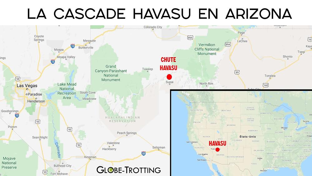 Carte cascade Havasu