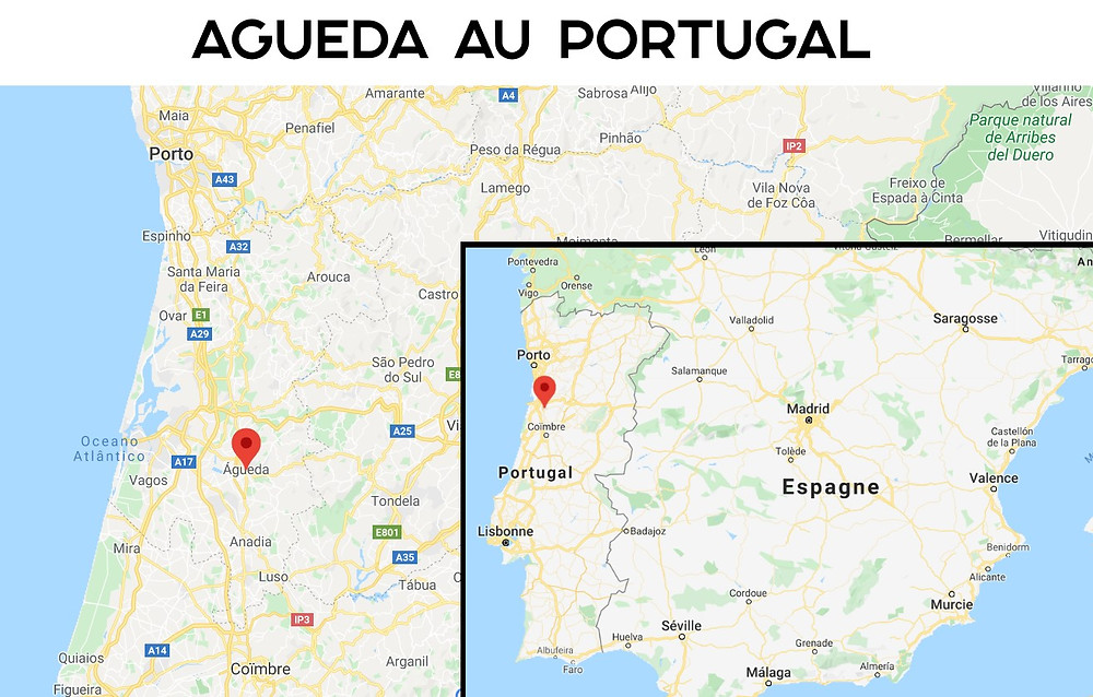 Carte Agueda portugal