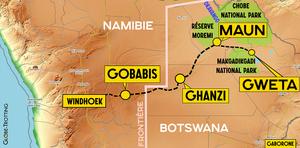 Carte Maun Botswana