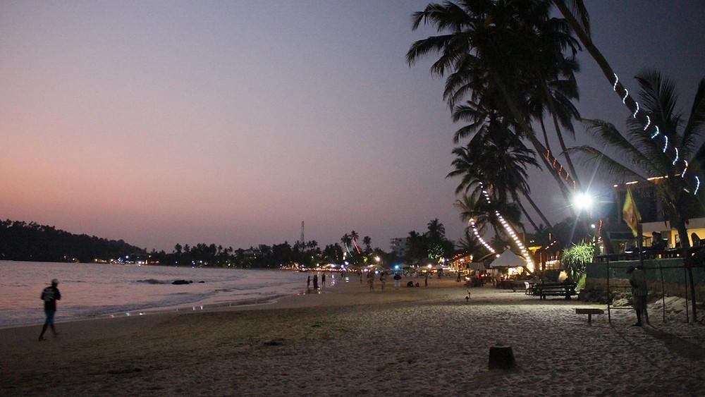 plage nuit sri lanka mirissa