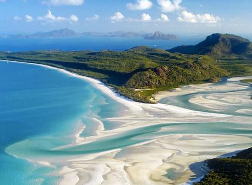 La plage du Paradis Blanc en Australie