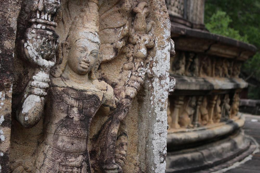 sculptures Polonnaruwa Sri Lanka