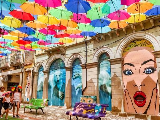 Les parapluies d'Agueda au Portugal