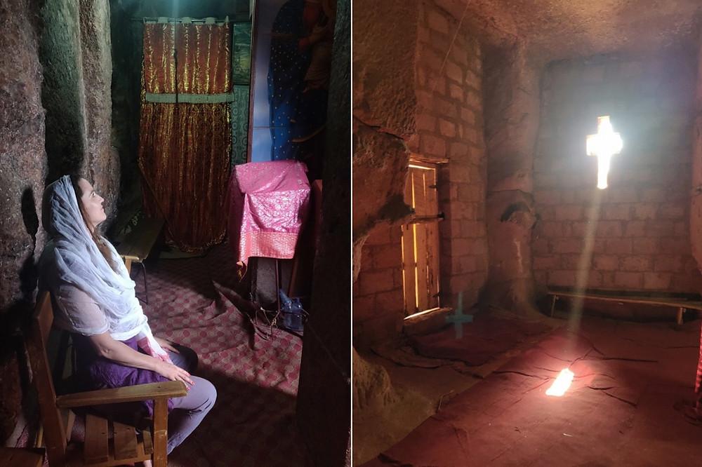 touriste Lalibela et Bete gyorgis en Ethiopie