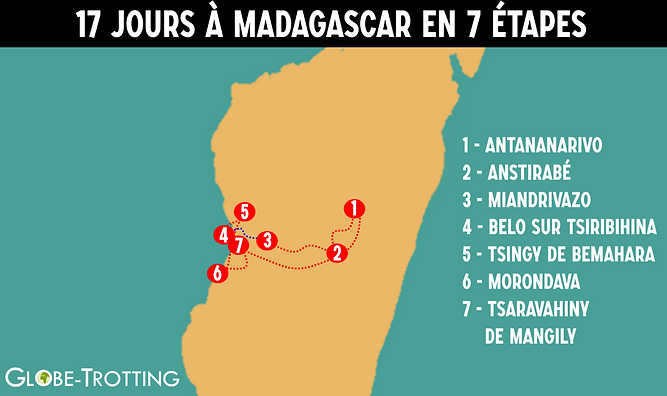itinéraire madagascar
