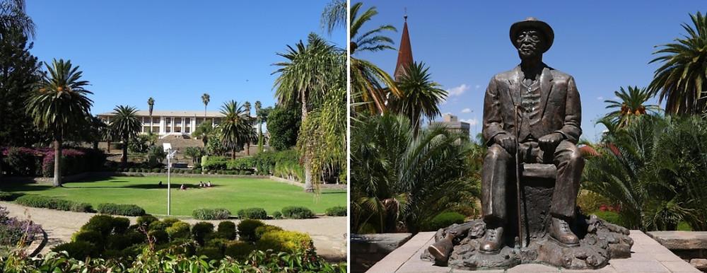 Titenpalast jardin et statue Windhoek