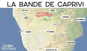 Bande de Caprivi carte map
