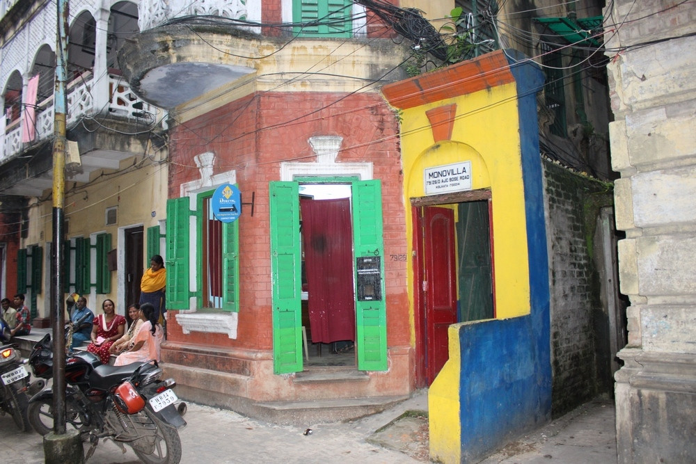 Façades colorées de Calcutta
