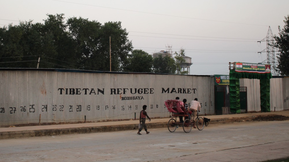 marché réfugiés tibétains Bodhgaya
