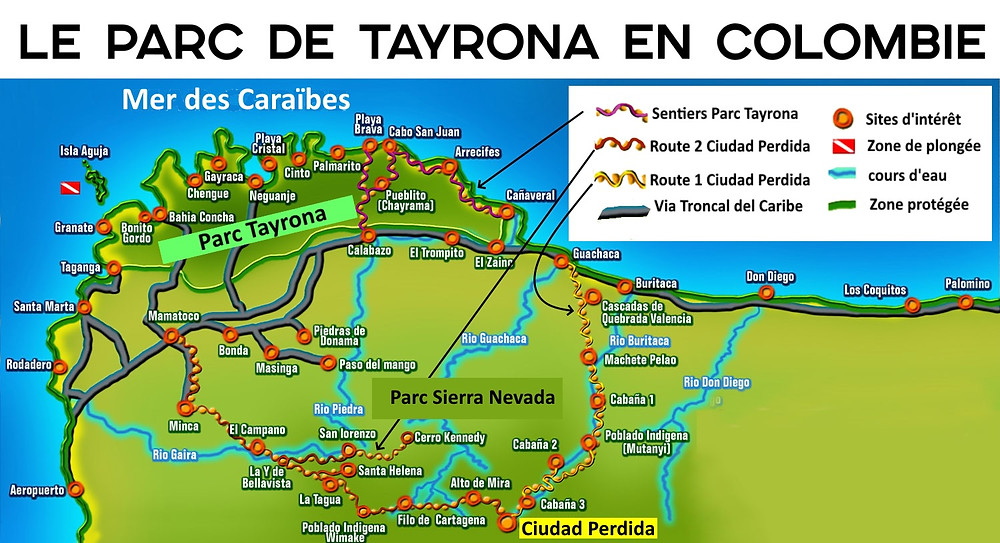 Carte Tayrona Ciudad Perdida