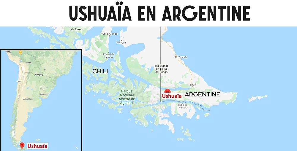 Carte Ushuaia Argentine
